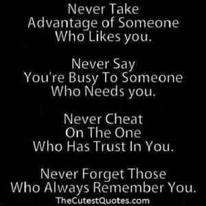 Take Advantage Love Quote