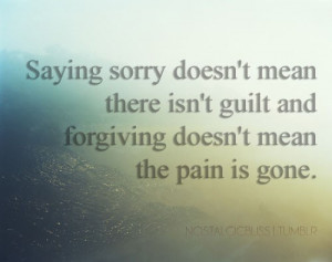Guilt And Forgiving