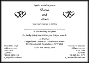 Hindu Wedding Invitation Wording, Wedding Card Wordings - Parekh Cards