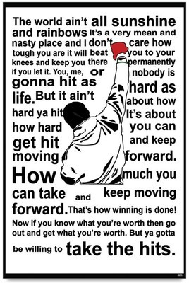 Home > Bluegape Rocky Balboa Quote Poster (Medium)