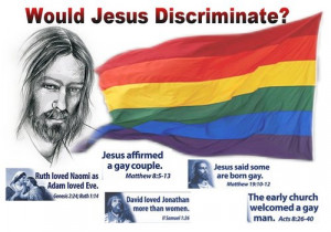 thinking that jesus the bible supports gay people gay marriage