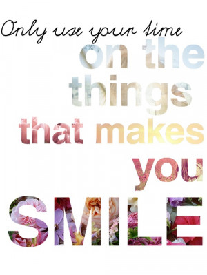 happy, life, quotes, smile, time