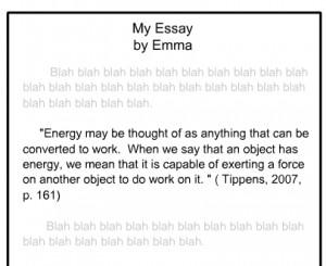 Example of APA Quote Citation