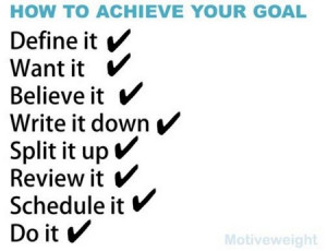 Motivation: How To Achieve Your Goal