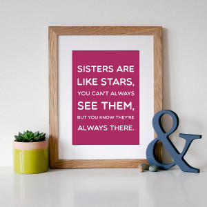 Best Friend More Like Sisters Quotes 'sisters are like stars' quote