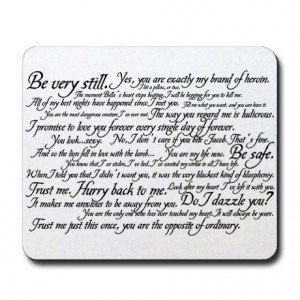 Bella Gifts > Bella Office > Edward Cullen Quotes Mousepad