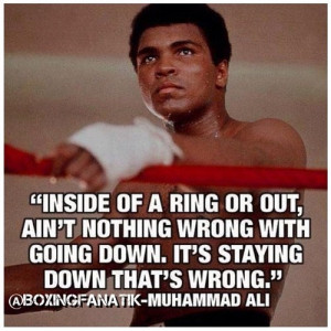 Motivational #Boxing quote of the day: Muhammad Ali