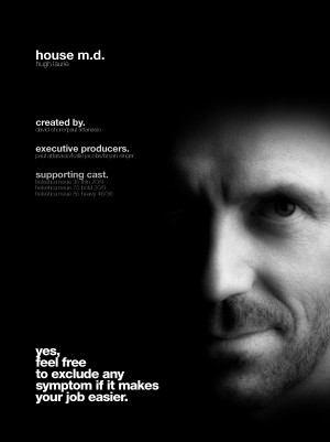 House M.D. Helvetica TV Series Poster
