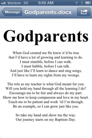 Godparent Poem. I am making a brag book on Shutterfly for my daughters ...