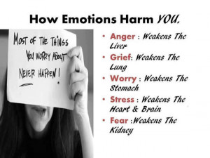 You must have to know how your emotions are harming you.