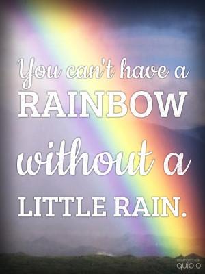 rainbow #rain #quote #happy