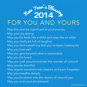 New Year's Blessings .