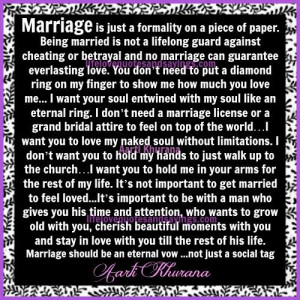Marriage Should Be An Eternal Vow .....