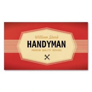 Vintage Handyman Business Cards