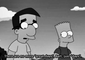 quote sad the simpsons bart Milhouse