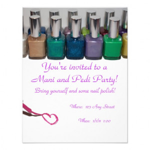 throw a manicure and pedicure party for you and your friends in style