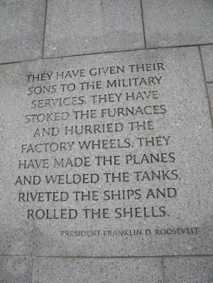 World War II Memorial, Washington DC. Memories Tablet, America W ...