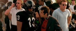 ... line-up of Coach Tony D'Amato (Al Pacino) and the Miami Sharks