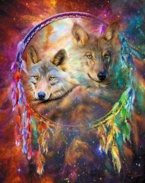 Dream Catcher - Wolf Spirits