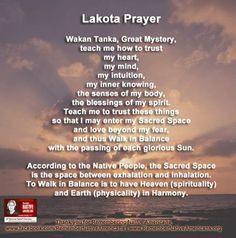 Native American Prayers...