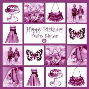 Happy Birthday twin sister image