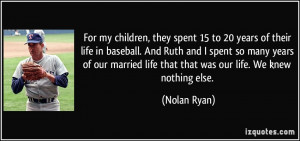 More Nolan Ryan Quotes