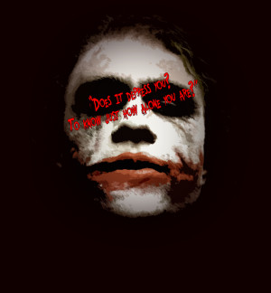 Heath Ledger Joker Quote...