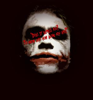 Heath Ledger Joker Quote...
