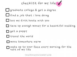 checklist,cute,quote,checklist,for,my,life,love,afskhj,,fuckyes ...