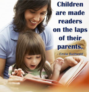 children-are-made-readers in the laps of their parents