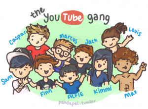 pandapal: The famous Youtube gang :)Yay they added Louis and Maz!