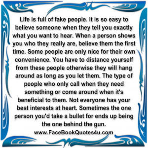 facebook quotes and sayings about fake people