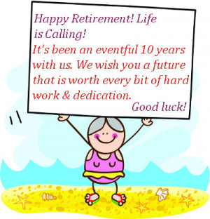Retirement wishes for co-worker