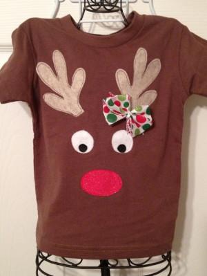 Reindeer Shirt!: Christmas Crafts, Sewing Crafts, Xmas, Christmas ...