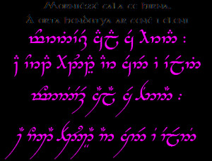 ... Sindarin quotes (using the two major transcription mode for Sindarin