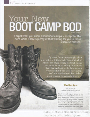 Military Boot Camp Quotes http://colonelbobsbeachbootcamp.blogspot.com ...