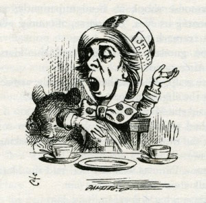 ... of The Mad Hatter from Alice and Wonderland, Lewis Carroll