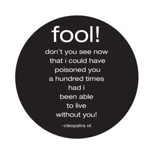 inspired living - Card: Fool! Don't you see now... - Cleopatra VII, $2 ...