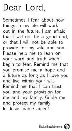 Fear For The Future --- Dear Lord, Sometimes I fear about how things ...