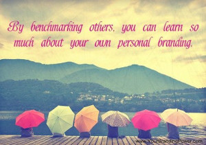 ... can learn so much about your own personal branding. #personalbranding