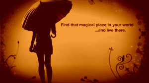 Magic quotes love lady place motivational
