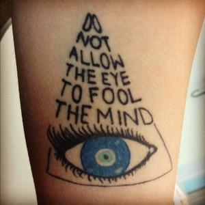 illuminati #quote #tattoo #allseingeye #evileye #turkish #becognizant ...