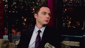 Jim Parsons checked shirt blue tie top quotes sheldon cooper 2012