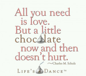 Chocolate = love