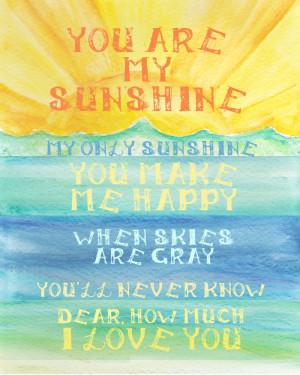Inspirational Quote and Sunshine Art Print