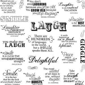 Fiskars - Clear Acrylic Stamps - 8 x 8 - Laugh With Me Quotes