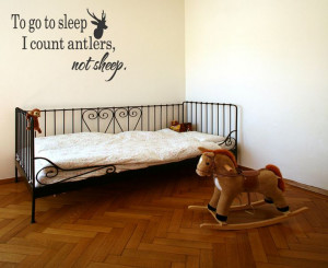 Hunting Deer Baby Humor Decor Quotes Removable Letters Wall Quote ...