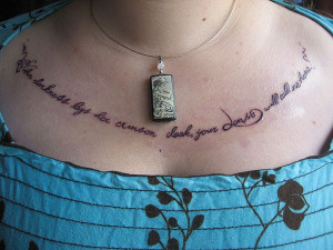 Chest Tattoo Quotes For Women