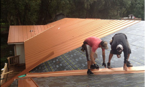 Copper Standing Seam Metal Roofs