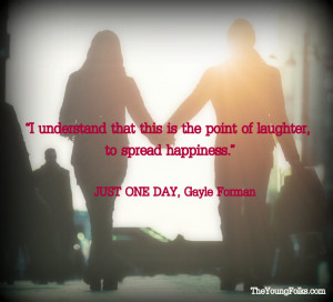Top 10 JUST ONE DAY Quotes + JUST ONE YEAR Giveaway